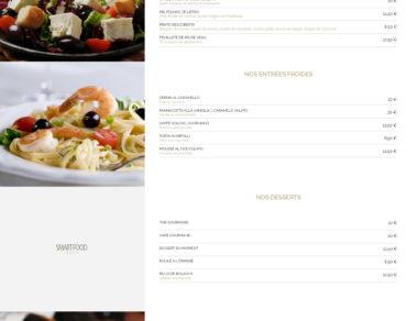 Maquette site restaurant